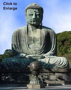 Big Buddha (Daibutsu) of Kamakura's Kotokuin Temple -- AMIDA NYORAI