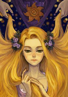 Oscuridad y belleza en estas fantasticas ilustraciones Disney