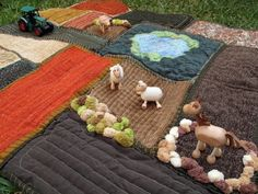 Play Mat Farm.. Use fabric scraps and old clothes for this cute project!