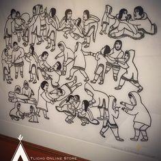 """An ordinary day"" by Victoria Mamnguqsualuk, 1992 Art Inuit People, Ordinary Day, Inuit Art, Victoria, Home Decor, Decoration Home, Room Decor, Home Interior Design, Home Decoration"