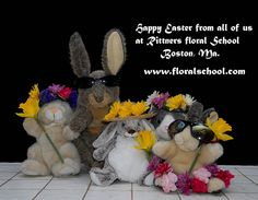 Happy Easter from all of us at Rittners Floral School, Boston, MA.   www.floralschool.com
