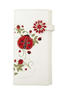 Discovery Wallet - Lady Bugs - White - Just a Touch of Everything Lady Bug, Asian Beetle, Ladybug Garden, Bug Tattoo, Ladybug Crafts, Class Decoration, Love Bugs, Flower Centerpieces, Miraculous Ladybug