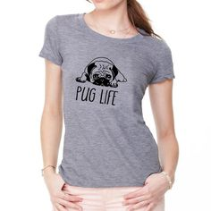 2019 Dog Top Quality Cotton Women T Shirt Casual Loose Design O-neck Women Cute Cartoon Pug Print Tshirt Plus Size Pug Life, Shirt Price, Dog Design, Cute Cartoon, Pugs, Casual Shirts, Cricut, Plus Size, T Shirts For Women