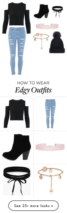 """""""Modern / edgy look"""" by rockstar1028 on Polyvore featuring River Island, Boohoo, Humble Chic and modern"""