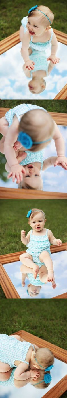Janell Corrine Photography | Metro Detroit, MI | Portraits 2013 | 9 months old | Mirror Reflection