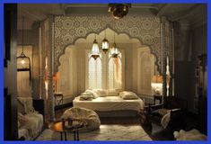 Wendy Beauchamp bedroom love the use of Moroccan design. Perfection : Wendy Beauchamp bedroom love the use of Moroccan design. Morrocan Decor, Moroccan Style Bedroom, Moroccan Lanterns, Morocco Bedroom, Morrocan Bathroom, Moroccan Design, Moroccan Tiles, Turkish Tiles, Portuguese Tiles