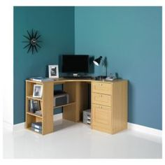 1000 images about study on pinterest corner desk corner office desk and office chairs - Tesco office desk ...