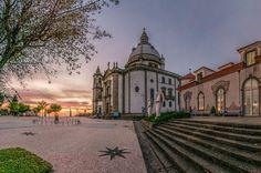 Sunset at Sameiro sanctuary in Braga, north #Portugal