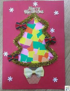 [페북제보] 만3,4세활동 크리스마스 카드 (모자이크기법) : 오미선 선생님 - 자료공유 > 누리놀이