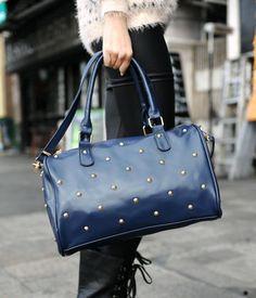 Studded Boston Bag – Totes & Top Handle Bags