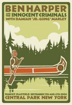 Furturtle Show Prints - BEN HARPER AND THE INNOCENT CRIMINALS with Damian Marley Poster