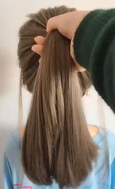 Hair Up Styles, Medium Hair Styles, Hair Medium, Braids Medium Hair, Plait Styles, Medium Blonde, Brown Blonde, Bun Hairstyles For Long Hair, Stylish Hairstyles