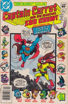 Captain Carrot and His Amazing Zoo Crew! #14 (1982 series) - cover by Scott Shaw
