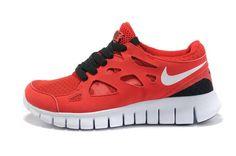 finest selection f2721 67284 Femme Homme Nike Free Run + 2 Chaussure De Course Université Rouge Noir