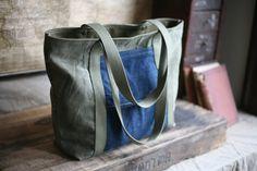 USN canvas tote bag