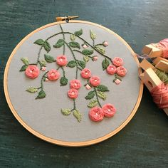 Crazy about pinks and posies#handembroidery #embroidery #fiberarts #myembroidery #stitch #needle #crafts #sewing #crosstitch #art #floral #handstiched #embroidered #embroiderylove #textileart #fiberartist