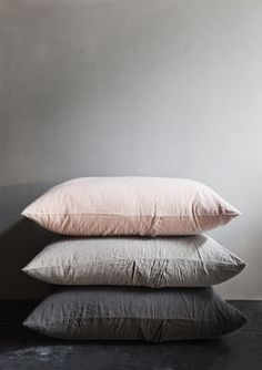 Linen pillowcases.