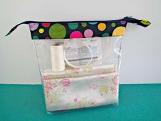 If you need a better way to store your sewing supplies, then you need to see this Clear Zippered Pouch Tutorial. This pouch pattern is perfect for organizing those little tools and supplies that tend to get all mixed up. Best of all, you can see what's inside the bag without having to open it. Perhaps you can even make a few for your husband, so he can finally tidy up his side of the bathroom. These sturdy little bags are also waterproof, which means all their contents will be safe from…
