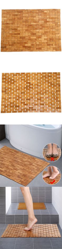 Non-Slip Appliques and Mats 66722: Bath Shower Spa Mat Bamboo Wood Roll Up Fold Anti Slip Non Skid Safety Tub Long -> BUY IT NOW ONLY: $587.99 on eBay!