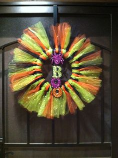 Halloween tule wreath