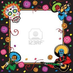 Day Of The Dead Party Invitation--fun, festive--I like this one