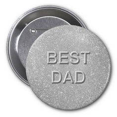 Best Dad Glitter Buttons by elenaind