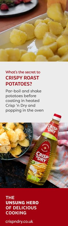 Want to know the secret to perfecting the crispiest roast potatoes? Watch our video to find out the unsung hero of delicious cooking. Roast Dinner, Sunday Roast, Veggie Recipes, Cooking Recipes, Crispy Roast Potatoes, No Cook Meals, Food Inspiration, Love Food, Droopy Eyelids