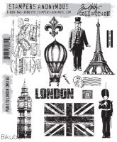 Bilde av produkt: Tim Holtz Collection - Paris to London - Stamps