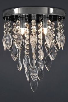 Beautiful ceiling lights sale lighting pinterest ceiling buy swirl 3 light chrome flush with glass beads and twist droppers from the next uk aloadofball Images