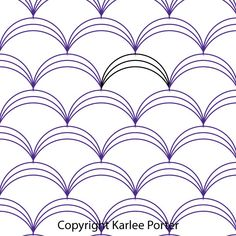 Digital Quilting Design Clamshell Triple by Karlee Porter. Quilting Stitch Patterns, Quilt Stitching, Quilt Patterns, Free Motion Embroidery, Free Motion Quilting, Sashiko Embroidery, Quilting Stencils, Longarm Quilting, Quilting Rulers