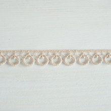 #Organic# lace trim 15 mm wide# natural ecru #cotton colour undyed, #teardrop loop www.lancasterandcornish.co.uk #lampshade #trim #wedding #bridal #weddingdress #millinery