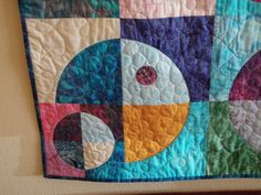 Geometric Lap or Sofa Size Batik Quilted throw -  Planets N Moons Galaxy on Etsy, $700.00