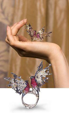 ichien jewellery - This ring is already saved in my board; Bird Jewelry, Animal Jewelry, Jewelry Art, Jewelry Accessories, Jewelry Necklaces, Fashion Jewelry, Jewelry Design, Jewellery, Pinterest Jewelry