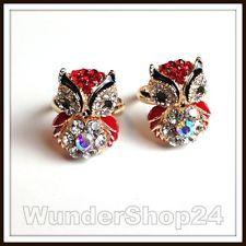 Eulenring Hübscher Ring Eule Owl Uhu Kauz mit Facetten Glas Kristall Perlen NEU