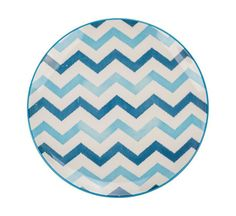 "Ooh La La 10.5"" Chevron Dinner Plate (Set of 2)"