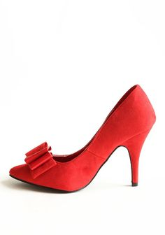 Over The Moon Heels In Red | Modern Vintage Back In Stock