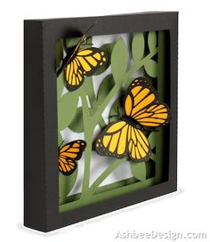 Ashbee Design Silhouette Projects: 3D Butterfly Shadow Box tutorial