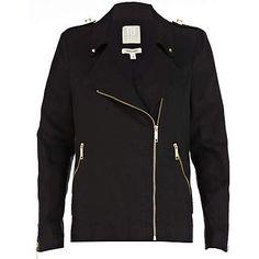 Black linen biker jacket  £70.00