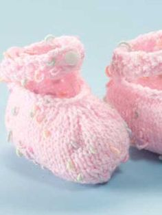Babies & Children's Knitting - Kids Accessories Knitting Patterns - High Back Mary Jane Booties