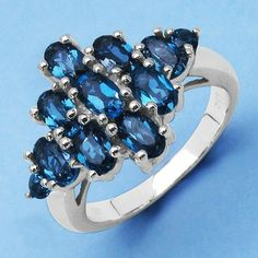 2.60CTW Genuine Blue Topaz .925 Sterling Silver Ring - http://www.johareez.com/shop/justbuyit/rings/2-60ctw-genuine-blue-topaz-925-sterling-silver-ring-5-10279/$10628365