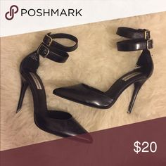 Steve Madden heels Pointed toe heels good condition. Top straps were replaced. Steve Madden Shoes Heels