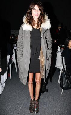 Alexa Chung Mancy Gallagher girl coat