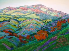 "robin purcell california watercolors in the plein air tradition: Demonstration: "" After the Fire II "" 18 x 24 (Mount Diablo)"
