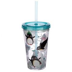 Fun for all the family at home, work or on holiday, our range of reusable double walled cups keep cold drinks cold. Printed with fun designs they are colourful and practical and come with a lid and reusable straw. Each cup holds 500ml. Our double walled cups keep cold drinks cooler for longer and are not suitable for use with hot liquids. The straw is not recommended for children under 5. Dimensions: Height 16cm Width 10cm Depth 10cm Straw Length 23cm (approx 6 x 4 x 4 inches; straw 9… Funky Design, Cute Penguins, Cold Drinks, Cool Designs, Cups, Range, Printed, Children, Hot