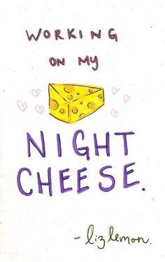 night cheese liz lemon by cpalmeno on Etsy, $15.00. I want this so bad