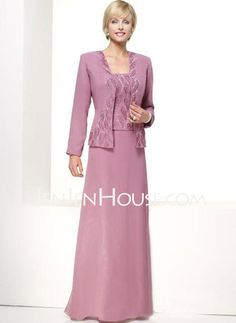 Mother of the Bride Dresses - $99.99 - A-Line/Princess Strapless Floor-Length Chiffon  Satin Mother of the Bride Dresses With Lace (008005748) http://jenjenhouse.com/A-line-Princess-Strapless-Floor-length-Chiffon--Satin-Mother-Of-The-Bride-Dresses-With-Lace-008005748-g5748