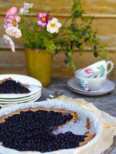 Mustikkapiirakka vailla vertaa! – Sikeltä sinulle Food And Drink, Pudding, Sweets, Sugar, Cookies, Desserts, Finland, Tarts, Fun