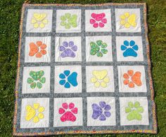 I made this quilt for my Therapy Dog, Charlie, and me to use during our Therapy visits. Charlie has been retired for several years, but my o...