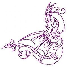 Dazzling Dragons - Free Instant Machine Embroidery Designs