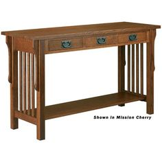 Image of Anthony Lauren Sofa Table with Three Drawers (ANT1067)